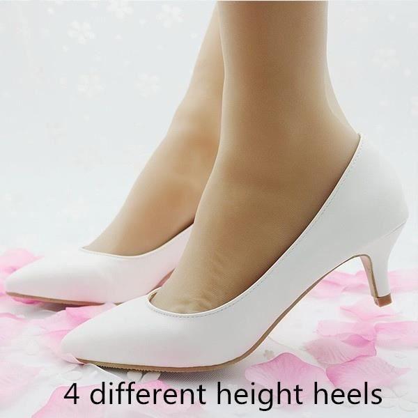 Escarpin Noir 9.5 Blanc élégantes s Stiletto sexy à haut talons simples Nightclub Chaussures