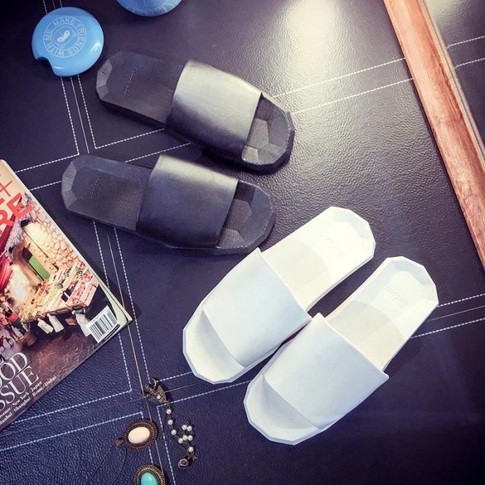 Couple Mode Pantoufles d'intérieur non - Slip maison fraîche Chaussons