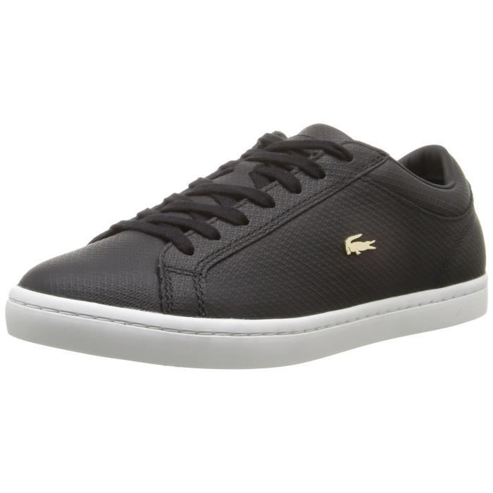 0a8e1f3206 Lacoste Straightset 316 1 Caw Sneaker Mode UKLP7 Taille-38 1-2 Noir ...