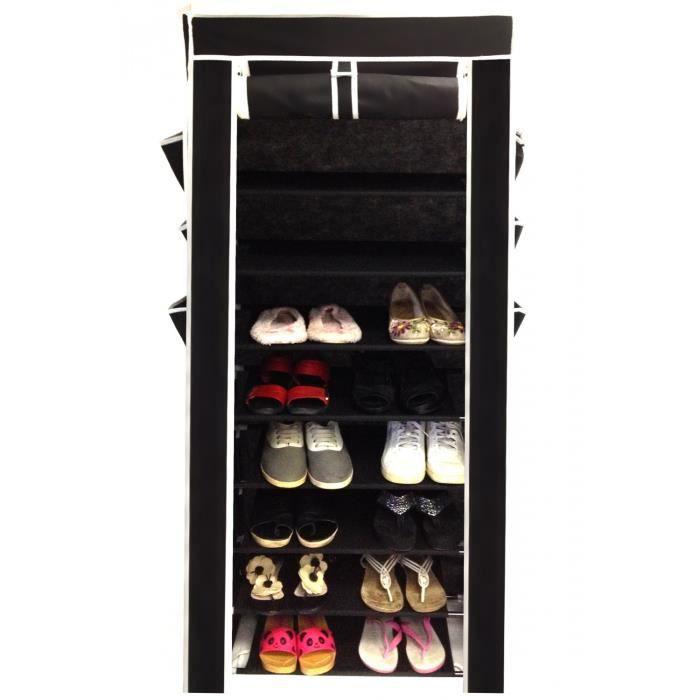 placard de chaussure achat vente placard de chaussure pas cher cdiscount. Black Bedroom Furniture Sets. Home Design Ideas