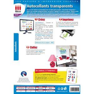 Papier imprimante adhesif transparent prix pas cher for Papier imprimante autocollant exterieur