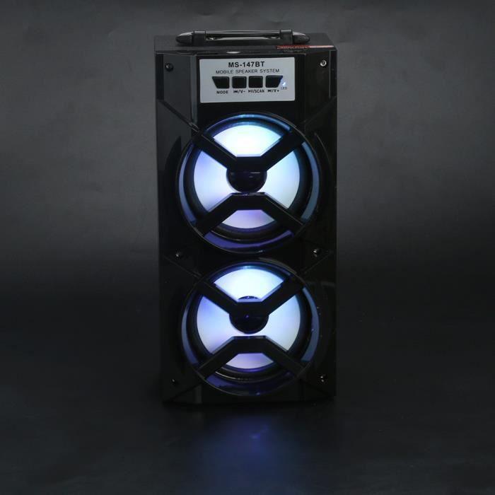 Led Bluetooth Sans Fil Haut-parleur Portable Super Bass Avec Radio Usb - Tf Aux Fm @5487