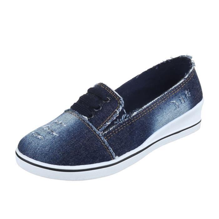 Femme chaussures flâneurs Slipper avecBleu foncé 40 seHpKN55c6