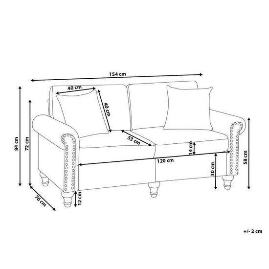 Canapé 2 places gris clair Otra - Achat   Vente canapé - sofa - divan -  Cdiscount 9650d6596663