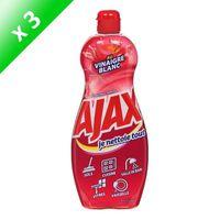 AJAX Lot de 3 gels nettoyant au vinaigre blanc & pomme - 750 ml
