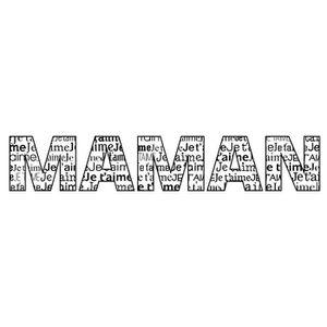 EPONGE - TAMPON Tampon en bois Je T'aime Maman 2,6 x 10 cm - Artém