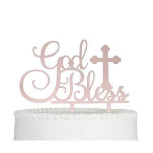 Figurine décor gâteau dieu bénisse gâteau topper pour baptême baptême dé