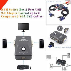 COMMUTATEUR KVM Boîtier de commutation KVM 2 ports Adaptateur USB