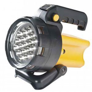LAMPE DE CHANTIER Lampe phare a main rechargeable 19 LEDS, sans fil.