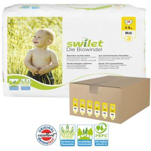 COUCHE Giga pack 168 Couches bio écologiques Swilet taill