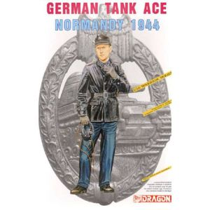 FIGURINE - PERSONNAGE Figurine Mignature German Tank Ace Normandy 1944 -