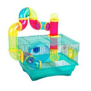 CAGE Cage à hamster en acier + accessoires
