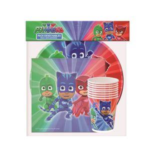 KIT DE DECORATION Pack vaisselle Pyjamasques