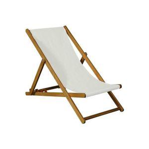 chaise longue chilienne de jardin pliantes en acacia fsc couleur - Chilienne Pas Cher