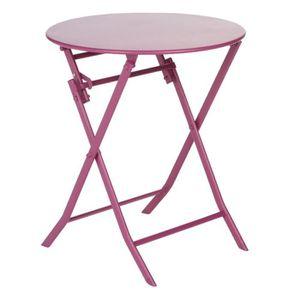 Table de jardin ronde en acier - Achat / Vente Table de jardin ronde ...