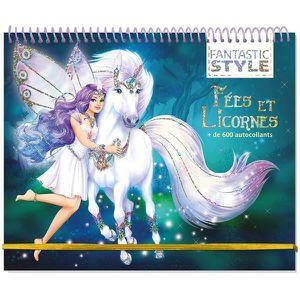 LIVRE LOISIRS CRÉATIFS Livre - animal style ; cahier créatif fées et lico