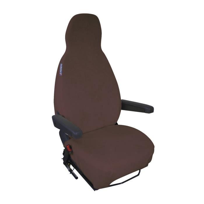 Housse de sièges éponge coton extensible Chocolat