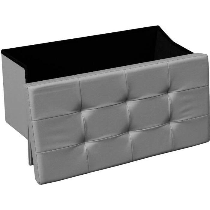 banquette coffre gris achat vente banquette coffre gris pas cher soldes d s le 10 janvier. Black Bedroom Furniture Sets. Home Design Ideas