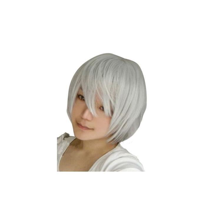Perruque cheveux blancs gris - Achat / Vente