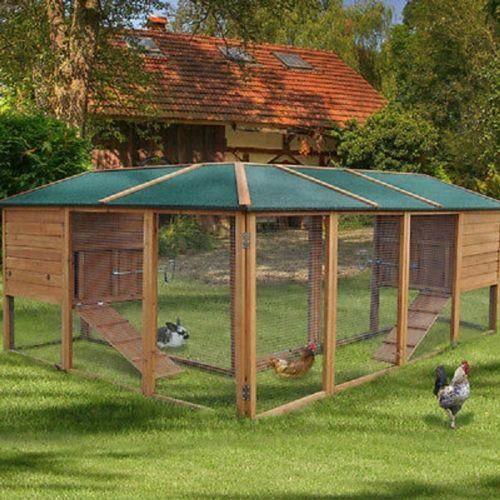 poulailler clapier parc enclos pour lapin poules rongeur. Black Bedroom Furniture Sets. Home Design Ideas