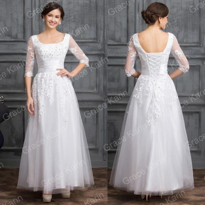 robe de mari e soir e neuve taille 32 achat vente