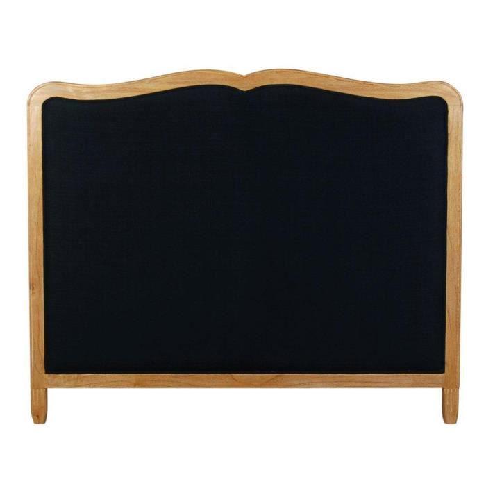 tete de lit en bois noir achat vente tete de lit en bois noir pas cher cdiscount. Black Bedroom Furniture Sets. Home Design Ideas