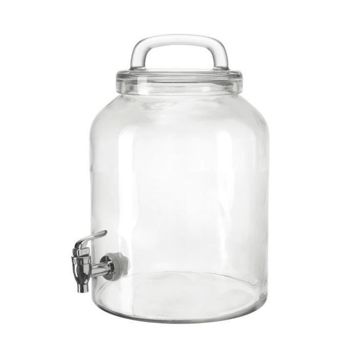 fontaine boisson en verre avec robinet enjoy 6l achat vente fontaine a eau cdiscount. Black Bedroom Furniture Sets. Home Design Ideas