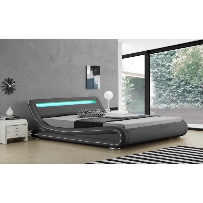 lit complet adulte 180x200 avec sommier et matelas achat vente pas cher. Black Bedroom Furniture Sets. Home Design Ideas