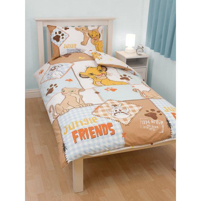 le roi lion parure housse de couette taie cubs achat vente parure de couette soldes. Black Bedroom Furniture Sets. Home Design Ideas