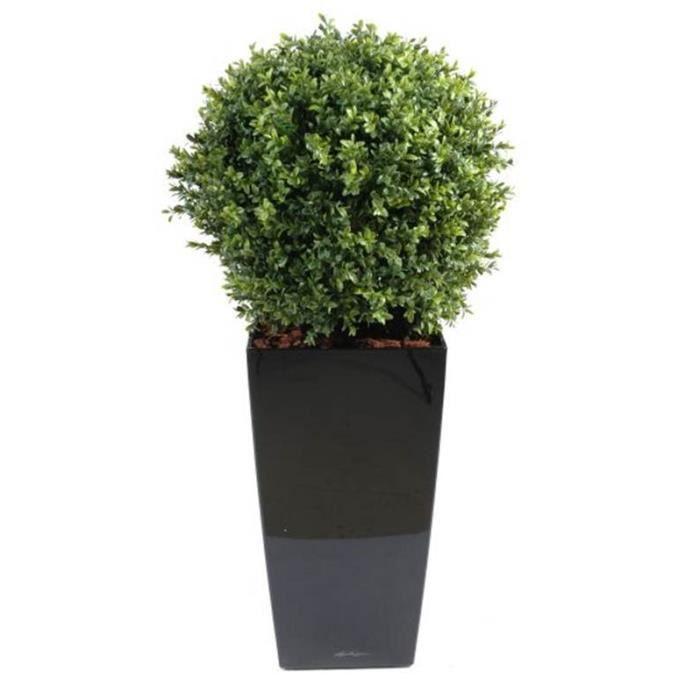 Buis artificiel 50cm pot achat vente fleur for Boule de buis artificiel 50 cm pas cher