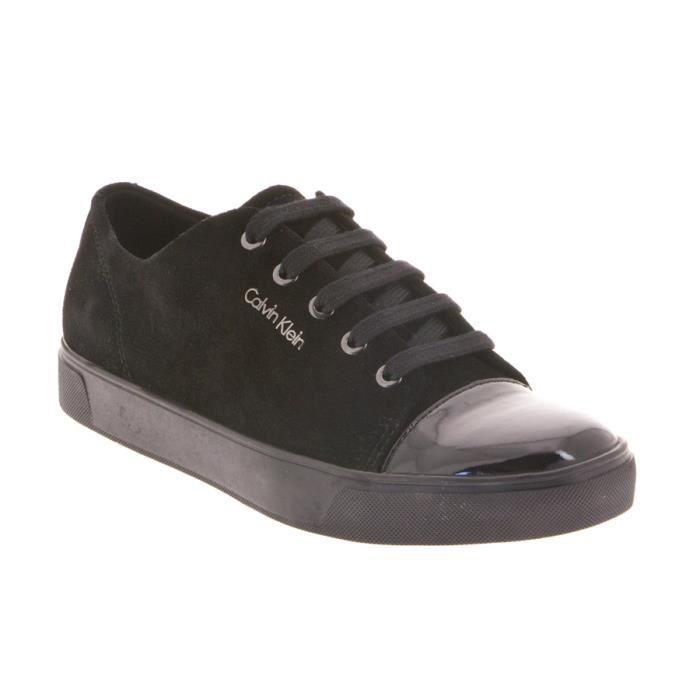 Chaussure de ville sport Calvin Klein Napoleon en daim et cuir ... a46f1f6f3e6