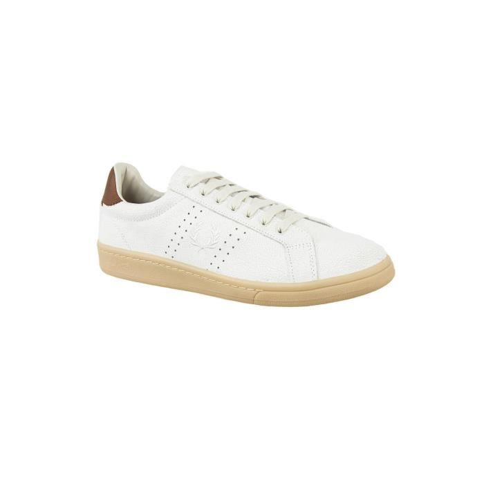 baskets mode fred perry b2070 blanc
