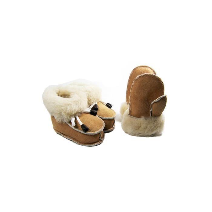 Chaussons + moufles bébé Complete Jurzec en agneau origine CE