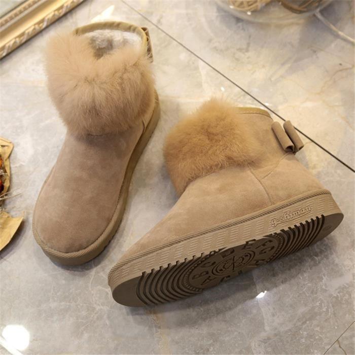 Bottine Femme Nouvelle Mode Qualité SupéRieure Chaussure Couleur Unie LéGer Chaussure Classique Grande Taille 36-40 y3JQUKY2E