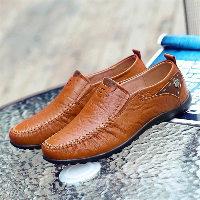 Derbies Homme Nouvelle arrivee Classique Meilleure Qualité Chaussures AntidéRapant Chaussures De Marque De Luxe Respirant 39-47 tUmykZTc