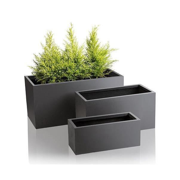 pot fibre gris achat vente pas cher. Black Bedroom Furniture Sets. Home Design Ideas