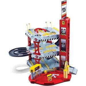 BURAGO Garage Ferrari + Véhicule Echelle