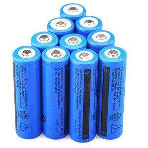 BATTERIE DOMOTIQUE 10PCS 3.7V 5000mAh Li-ion rechargeable 18650 batte