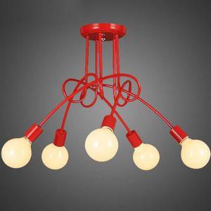 28 Rouge Simple Le Fer Lampe De Plafond Salle à Manger Salle D