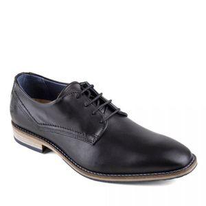 DERBY Chaussures derbies noires cuir Homme PIERRE CARDIN