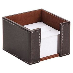HOUSSE TABLETTE TACTILE Osco Faux Leather Memo Pad Holder - Brown