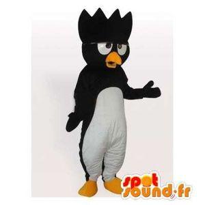 Mascotte SpotSound Cdiscount - Taille L - personnalisable de pingouin noir  avec une crête sur la tête b768793d79e