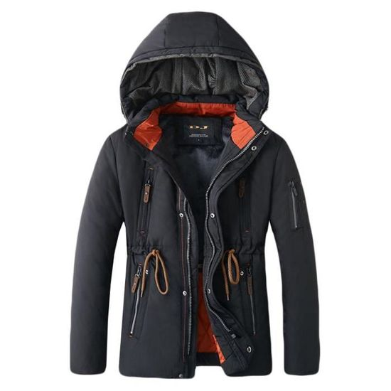 Serrage Homme Boutique Chaud De Hugo Epais Hiver fashion Manteau Cordon Avec À Blouson Capuche nqf6qavw
