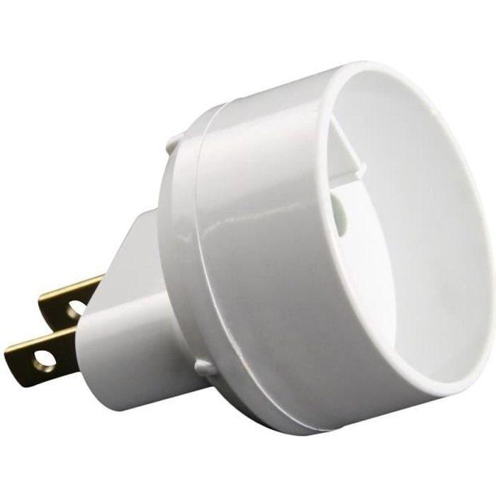 ZENITECH 240093 Adaptateur electrique fiche Euro vers USA blanc