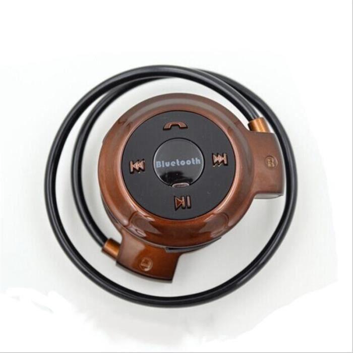 Ecouteur Bluetooth Super Avec Microphone Réduction De Bruit Pour Le Sport À La Mode Oreillette Marron