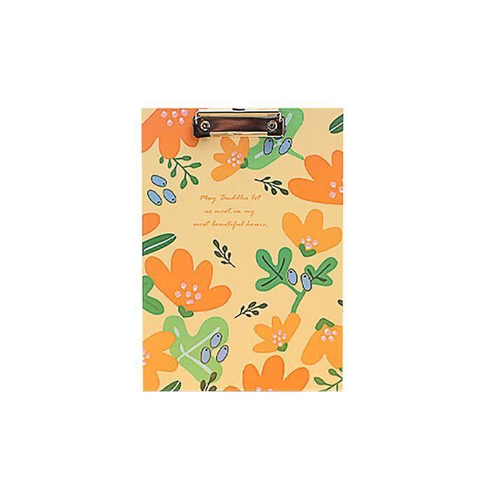 Materiel De Bureau Clip De Tableau Floral Orange 123 Achat Vente
