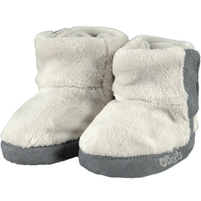 BARTS - Chaussures fourrure polaire blanc ivoire bébé fille du 3 au 12 mois Barts