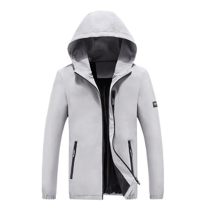 Yd3735 Casual Hommes Pocket Mode Hiver De Pure Respirante Color Automne Manteau Veste Zipper SpxS7trqBw