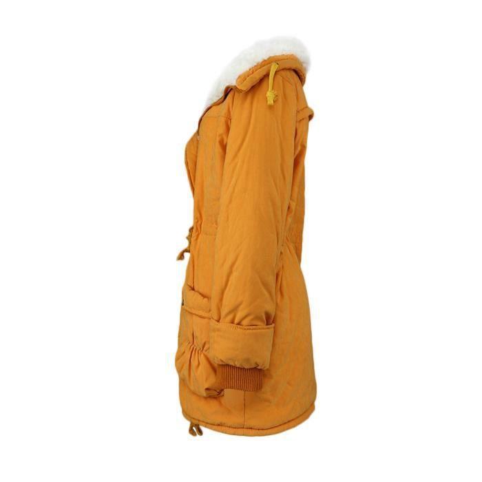 Plus Jacket Moyen Outwear Manteau Femme Jaune Ouatinée Taille Slim Long Dedasing® D'hiver Nouvelle À qA7xHwYp