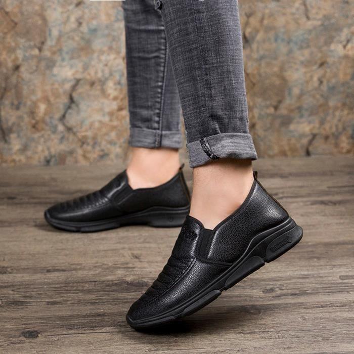 Bout À Ljd81018895bk Chaussures Rond Cuir Hommes En Noir Chaud Formelles Gardez Coton Plat Vintage Affaires zxA6S